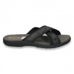 Papuci barbati din piele ecologica - LS30