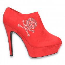 Pantofi dama inalti, cu aplicatii de strasuri - LS32