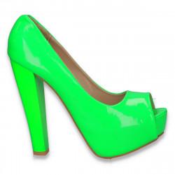 Pantofi extravaganti dama, verde neon - LS45