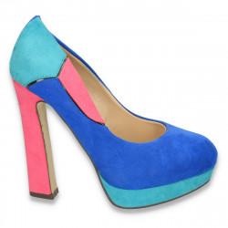 Pantofi colorati, cu toc foarte inalt, pentru femei - LS46