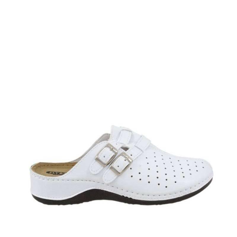 Saboti dama alb marca Fly Shoes VGTT03-084A