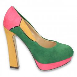 Pantofi in 3 culori, cu toc foarte inalt, pentru femei - LS59