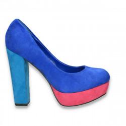 Pantofi dama, cu platforma si toc masiv, colorati - LS103