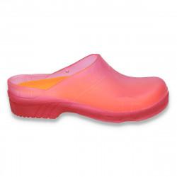 Saboti de gradina, pentru fete, stil CROCS, roz - LS108