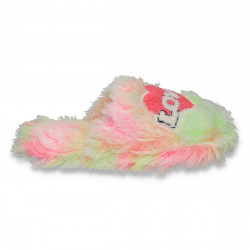 Papuci de casa pufosi, pentru femei, LOVE - LS113