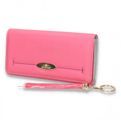 Portmoneu dama, cu imprimeu simplu, roz - M28