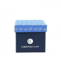 Set cravata si butoni albastru marca Christian Lay