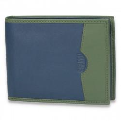 Portofel pentru barbati, din piele, bleumarin-verde - M63