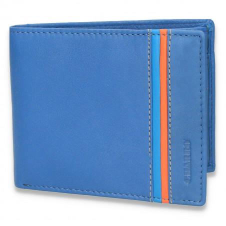 Portofel pentru barbati, din piele, CHARRO, albastru deschis - M68