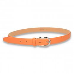 Curea din piele, JUICE, pentru femei, portocaliu - M80