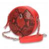 Poseta glami, rotunda, cu imprimeu croco, rosie - M91