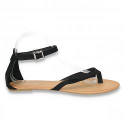 Sandale infradito, negre, cu barete subtiri - LS133