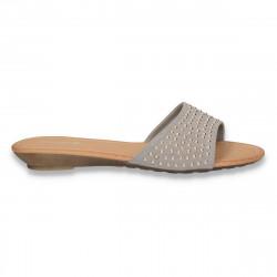 Papuci dama cu talpa joasa, gri - LS135