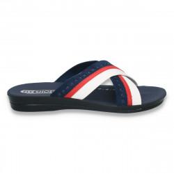 Papuci barbati din piele ecologica, in 3 culori - LS152