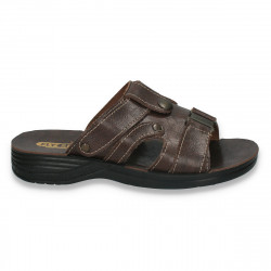 Papuci barbati, model clasic, maro - LS165