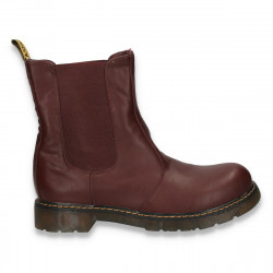 Cizme dama slip on, model clasic, bordeaux - W19
