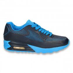 Pantofi sport dama, cu talpa inalta, bleumarin - W31