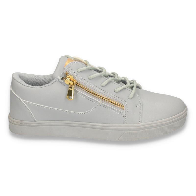 Pantofi sport-casual, pentru barbati, gri - W33