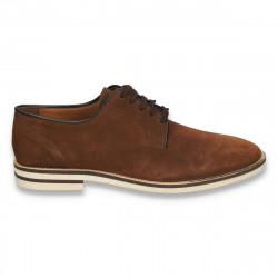 Pantofi casual-elegant, pentru barbati, maro - W44