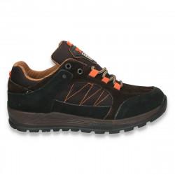 Pantofi trekking, pentru barbati, negru-maro - W45