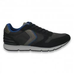 Sneakers pentru barbati, negru-albastru - W47