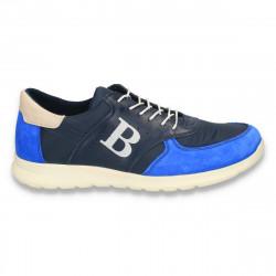 Sneakers pentru barbati, albastru-bleumarin - W48