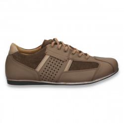 Sneakers din piele, pentru barbati, maro - W69