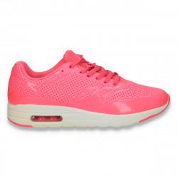 Pantofi sport dama, cu perforatii, roz neon - W71