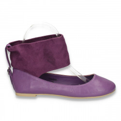 Balerini fashion, mov, peste glezna - LS236