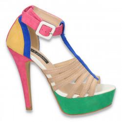 Sandale fashion, cu platforma, colorate - LS238