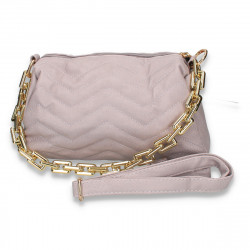 Poseta fashion, cu imprimeu cusut, violet - M110