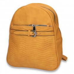 Rucsac modern pentru dama, cu imprimeu cusut, galben - M158