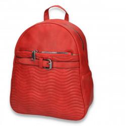 Rucsac modern pentru dama, cu imprimeu cusut, rosu - M160