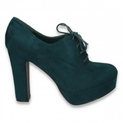Pantofi dama, platforma si toc inalt, masiv, verzi - LS276