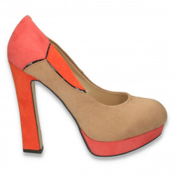 Pantofi in 3 culori, cu toc foarte inalt, pentru dama - LS298