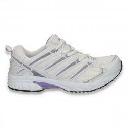 Pantofi sport pentru femei, alb-mov - LS337