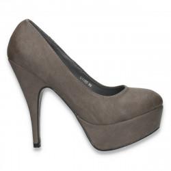 Pantofi glami pentru femei, gri - LS354
