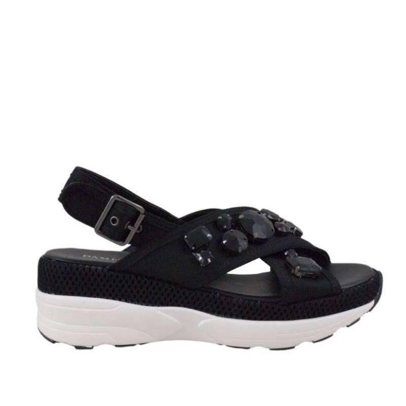 Sandale dama casual negru marca Dame Rose VGFF183N.MS