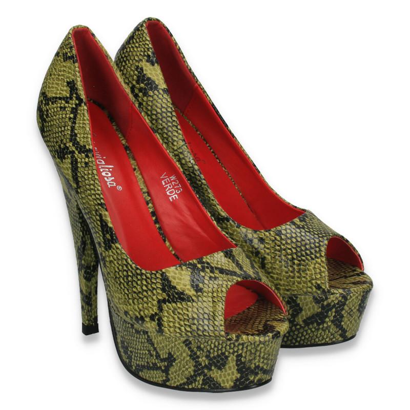 Pantofi cu toc femei din piele   4.770 articole - GLAMI.ro