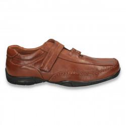 Pantofi barbati clasici, din piele eco, maro - LS392