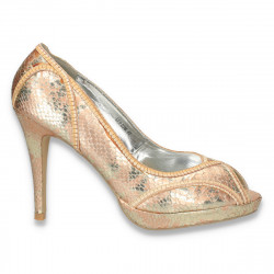 Pantofi glami dama, aurii cu irizatii - LS393
