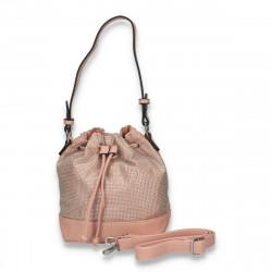 Geanta glami, tip saculet, cu strasuri, roz - M201