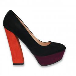 Pantofi in 3 culori, cu toc masiv, pentru femei - LS394