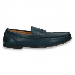 Mocasini barbati, model clasic, din piele eco, albastri - W85