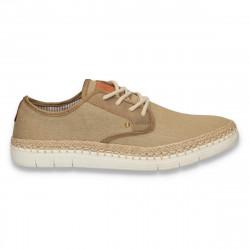Pantofi casual, din panza, pentru barbati, bej - W94