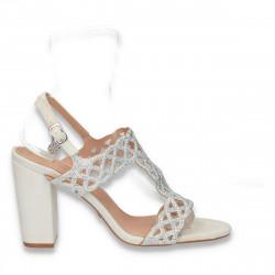 Sandale elegante dama, cu strasuri si toc gros - W96