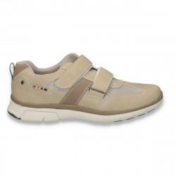 Pantofi sport, cu scai, pentru barbati, taupe - W97