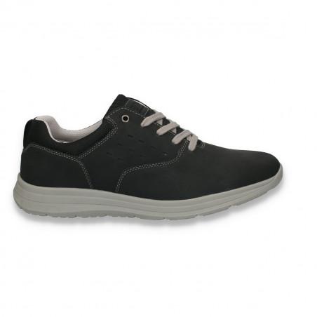 Sneakers casual pentru barbati, negru - W110