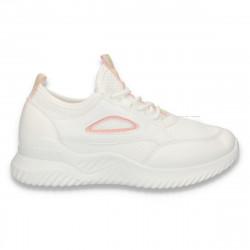Pantofi sport femei, alb-roz - W131
