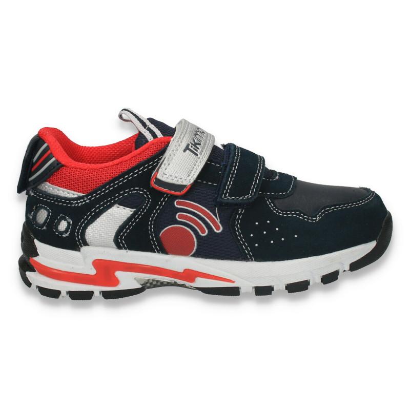 Sneakers sport, cu leduri, pentru baieti, bleumarin - W138